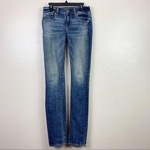 American eagle skinny stretch long jean